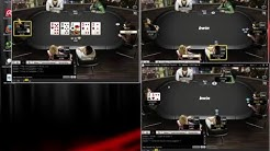 Online Poker Challenge mit mini Startgeld Tag 1
