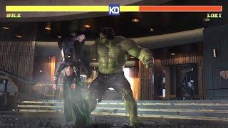 Hulk vs Loki | MCU Street Fighter - Round 1