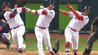 BOS@CLE Gm1: The Tribe launch three homers in the 3rd