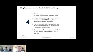 Oracle is changing its audit clause –  how does it impact you?