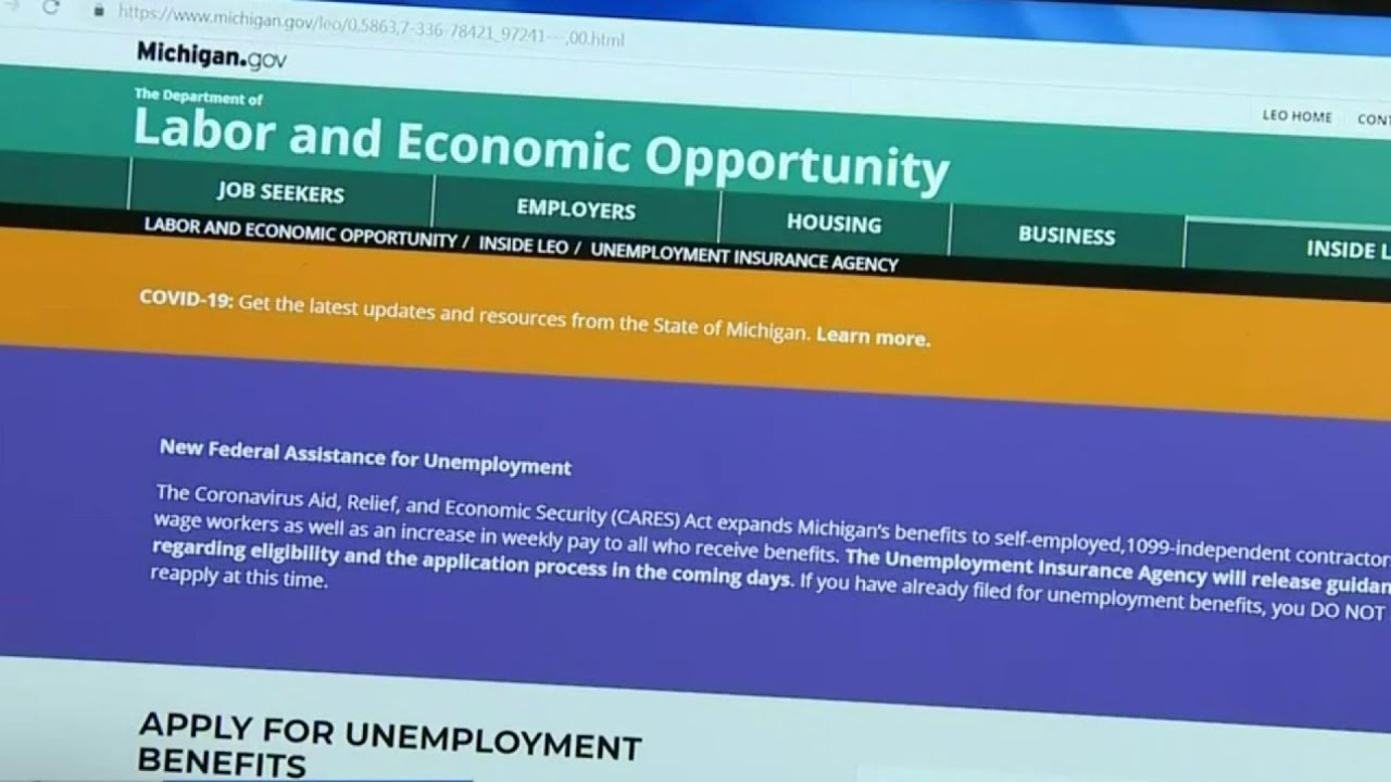 Live today: Update on Michigan unemployment system, federal ...