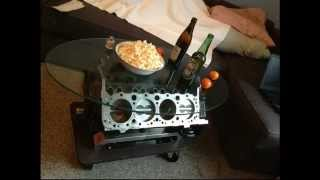 V8-tisch Camaro 5.0 Small-block Motortisch Engine Coffee Table Easy At Home - No Welding Or Workshop