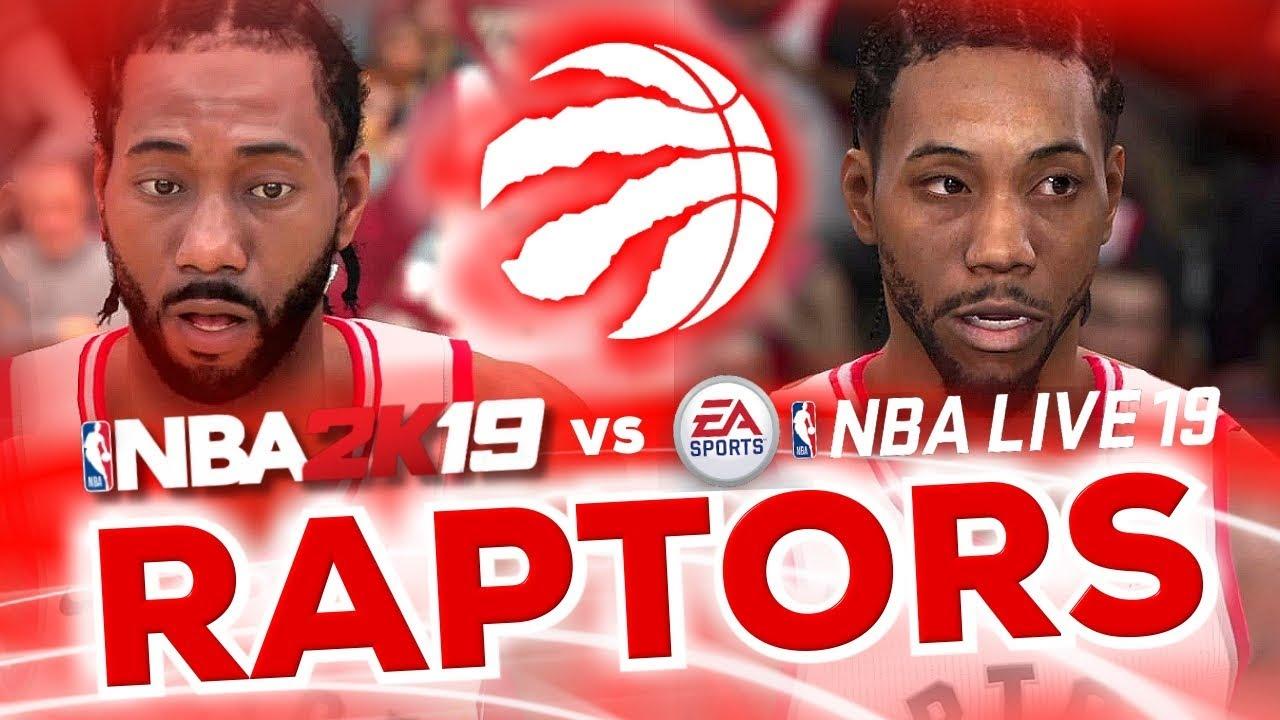Toronto Raptors NBA Live 19 vs NBA 2K19 Comparison - YouTube ab45d2c92