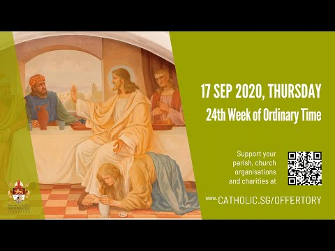 Catholic Weekday Mass Today Online - Thursday, 24th Week of Ordinary Time 2020
