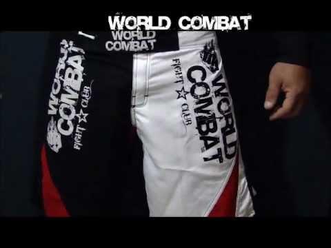Bermuda MMA Hybrid World Combat - Preto E Branco