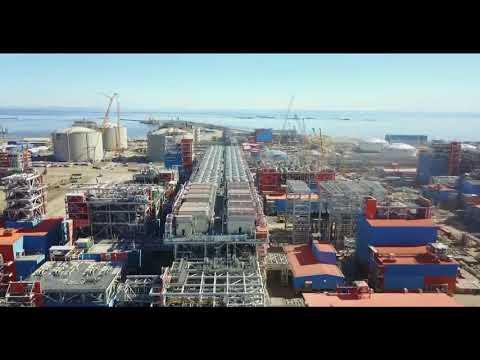 Завод Ямал СПГ с высоты