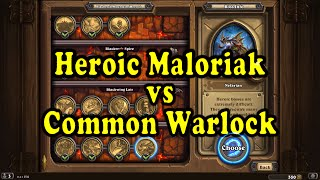 Hearthstone: Blackrock Mountain - Heroic Maloriak with a Common Warlock Deck