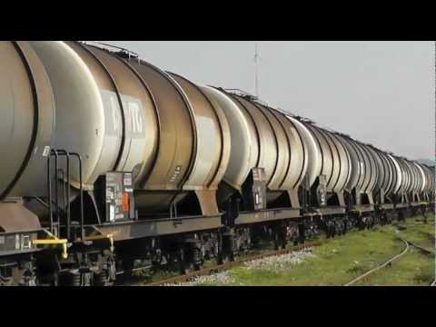 HSH T669 1039 with freight train on Hani i Hotit line Albania (Train 2) short version