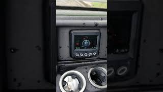 Hitting top speed on a Mahindra retriever