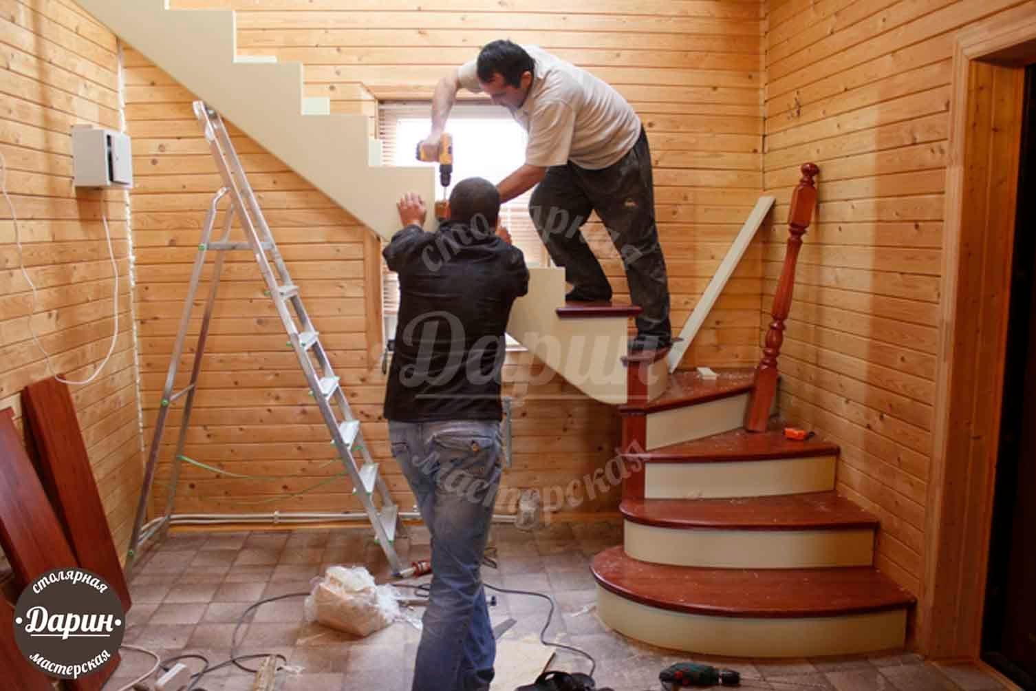 Лестницы на второй этаж в частном доме. - YouTube