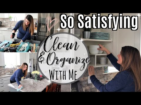 ULTIMATE CLEAN WITH ME 2019 :: KITCHEN ORGANIZATION AFTER DECLUTTERING :: SPEED CLEANING MOTIVATION