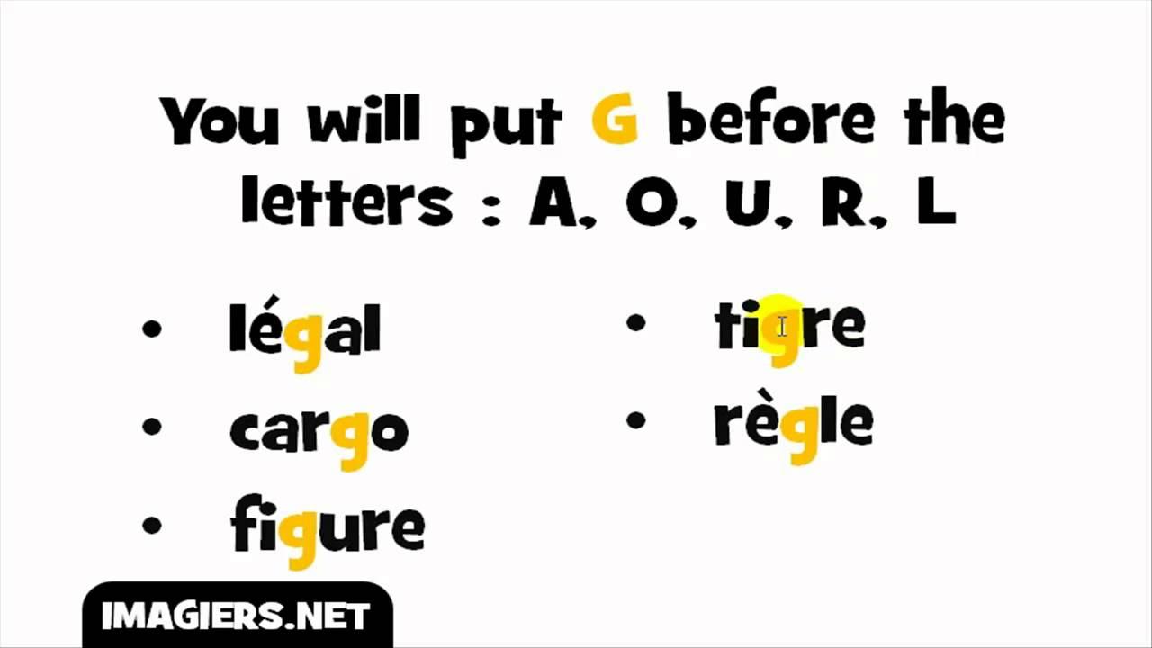 كلمات بحرف G بالفرنسية
