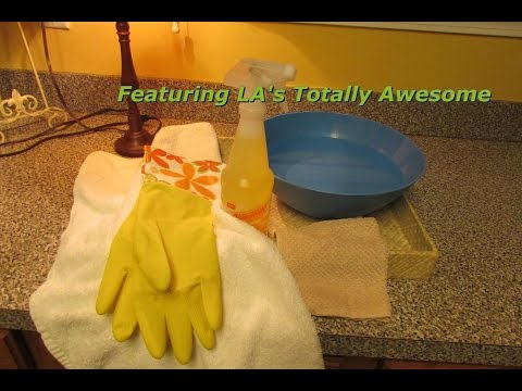 Spring CLeaning Series #3... How I clean my furniture using LA's Totally Awesome