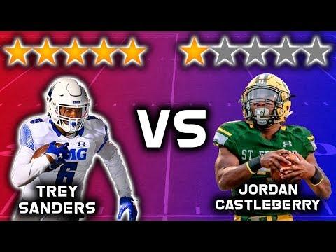 5 Star Recruit vs 1 Star Recruit!!!! *RUNNING BACK EDITION* | Sharpe Sports
