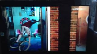 Andy Carroll falls of his bike on Soccer AM