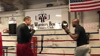 Chinese heavyweight Zhang Zhilei training in Paterson, NJ
