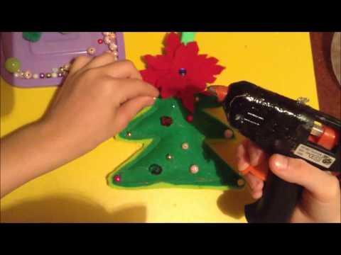 Новогодняя игрушка  своими руками  Елочка из фетра скачать
