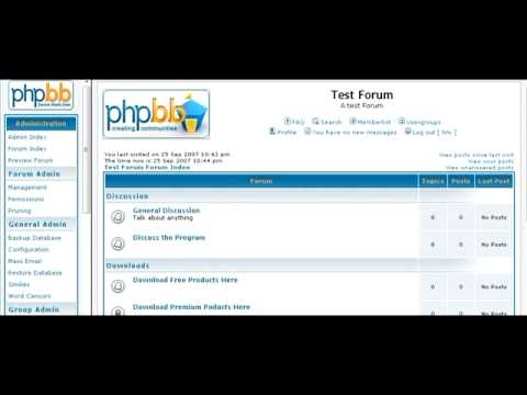 How To Setup A PhpBB Discussion Forum - Online Business Free Video Tutorials-29b
