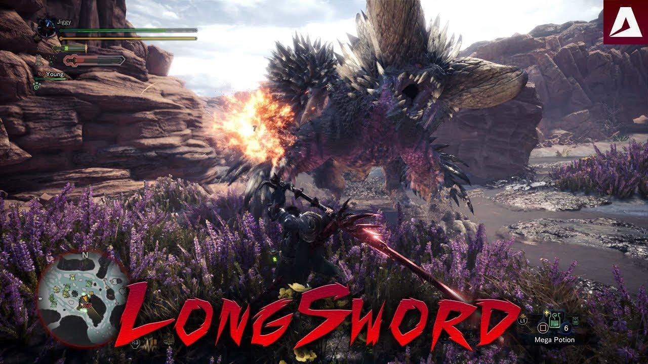 Monster Hunter World Beta Monster >> Monster Hunter World Beta Nergigante (12:42) Long Sword Solo - YouTube