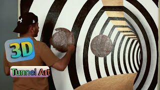 3d Tunnel Painting Design Ideas  Easy Way To 3D Art Design.