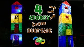 4-STOREY HOUSE FROM DUCT TAPE - DIY