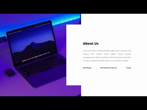 Responsive About Us Section Using HTML & CSS