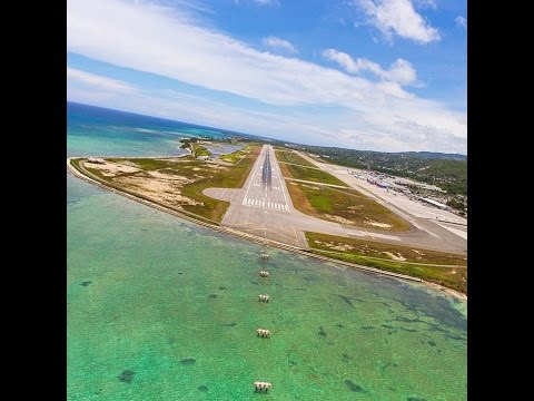 Landing in Montego bay airport MBJ