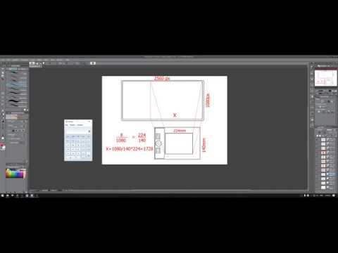 Настройка графического планшета для рисования на широкоформатном мониторе