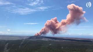 A volcano in Hawaii spewed pink ash
