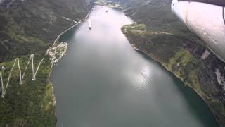 FPV over Geiranger Fjord