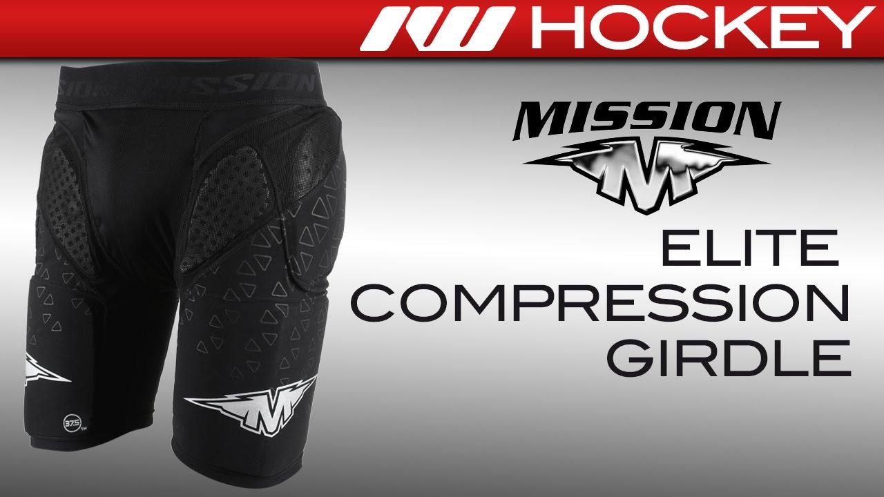 bcb9683f8af Mission Elite Compression Roller Hockey Girdle Review - YouTube