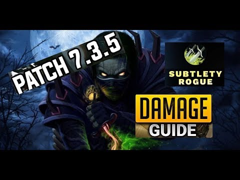 Sub Rogue Guide AoE & ST Rotation 7.3.5  ---How to Maximise DpS
