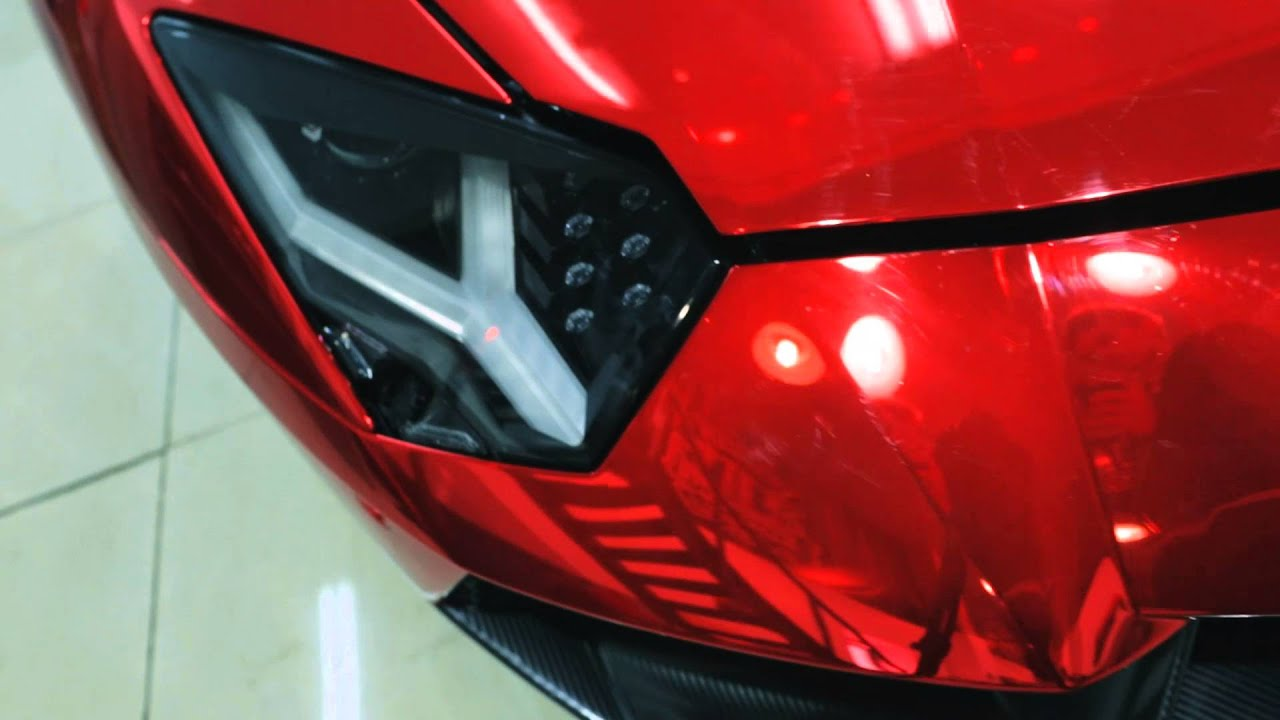 lamborghini aventador red chrome by dc tuning youtube - Lamborghini Aventador Chrome Red