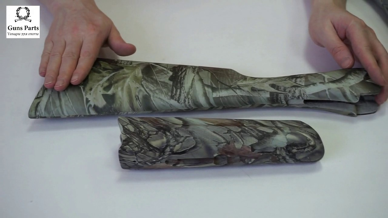 Приклад и цевье ИЖ-27 орех, 16 калибр, старого образца, Монте .