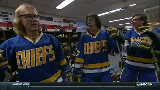 Hanson Brothers give Penguins pregame speech