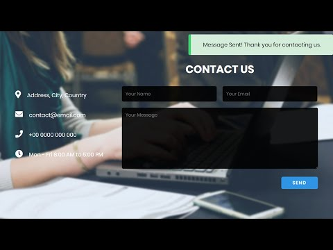 Responsive Contact Page UI Design - Using CSS & HTML