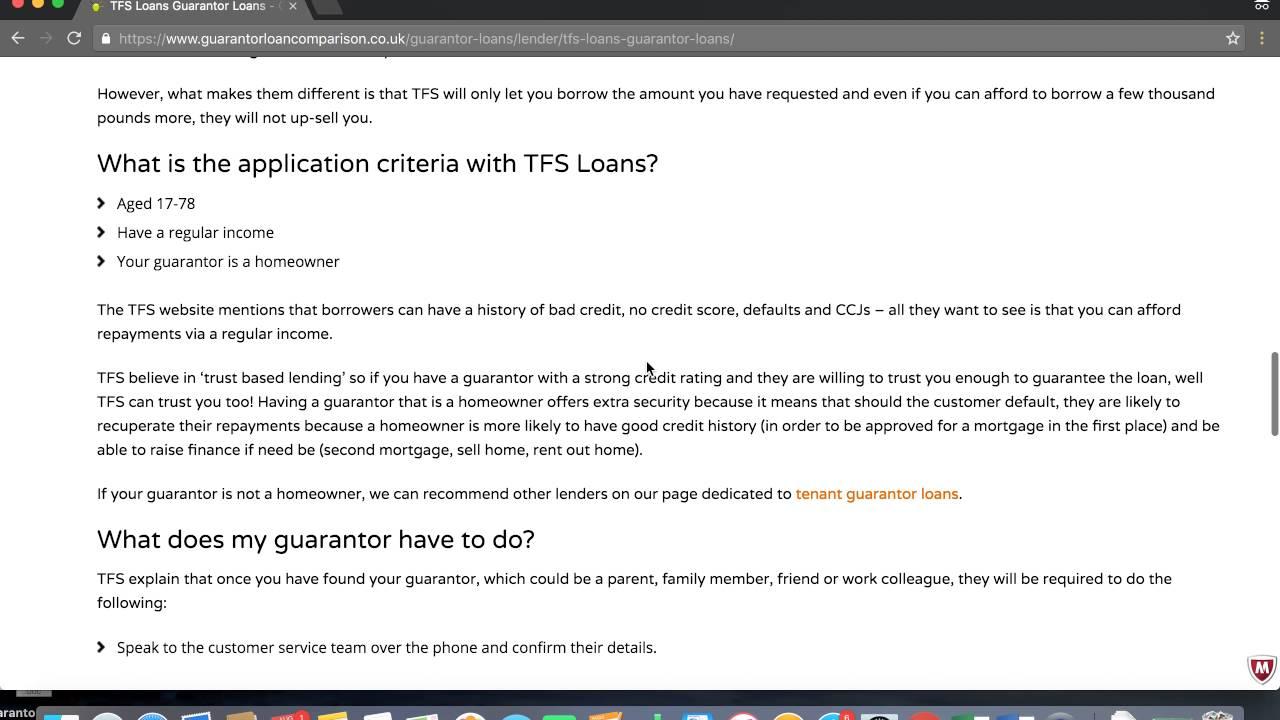 TFS Loans from 39 9% | Guarantor Loan Comparison
