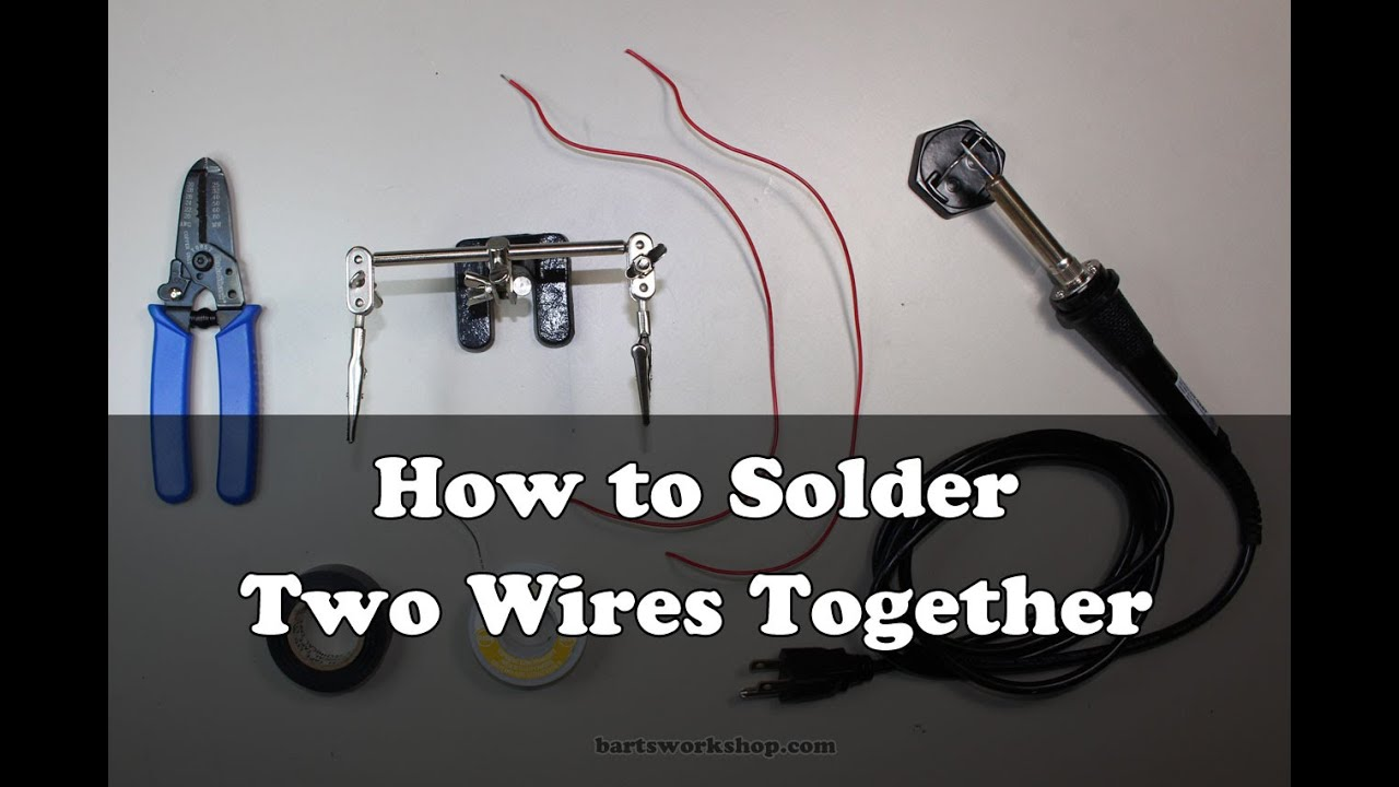 How to Solder Two Wires Together - YouTube