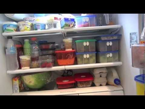 Starting a vegetarian diet Part 2 - fridge and pantry tour