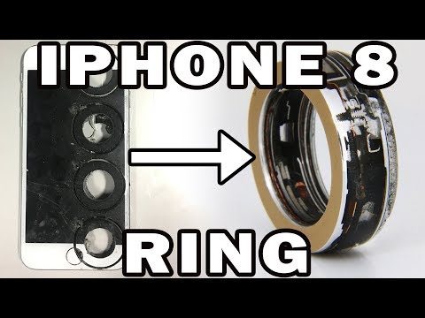 iPhone 8 Ring Making with a 60000 psi Waterjet Channel - Interesting Cross Section
