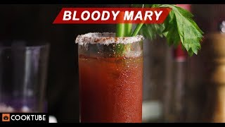 Easy Bloody Mary Cocktail Recipe | Brunch Cocktail Recipe | Vodka Cocktail in Tomato Juice