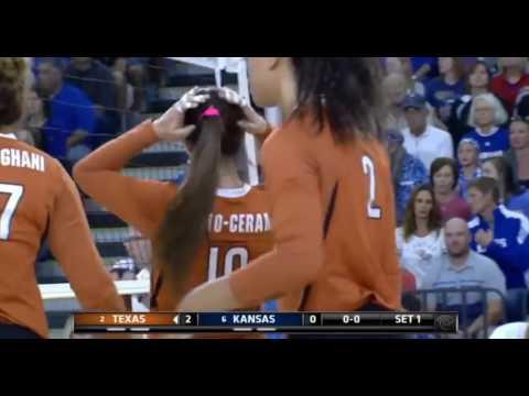 #2 Texas #6 Kansas volleyball 2016