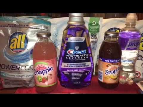 CVS haul 10/29/17.  $1 All Detergent. MM mouthwash.