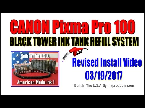 CIS-CISS For Canon Pixma Pro 100 Black Tower Ink Tank Refill System