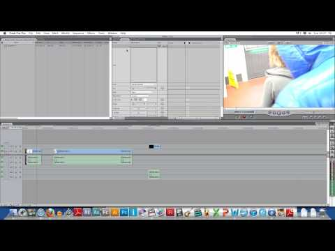 Screen Recording of adding text into footage
