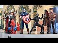 Marvel Summer of Super Heroes Opening Ceremony w/Spider-Man, Black Panther, Star-Lord, Black Widow +