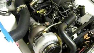 mustang notch turbo on3performance kit first start 70mm 68 ar mp