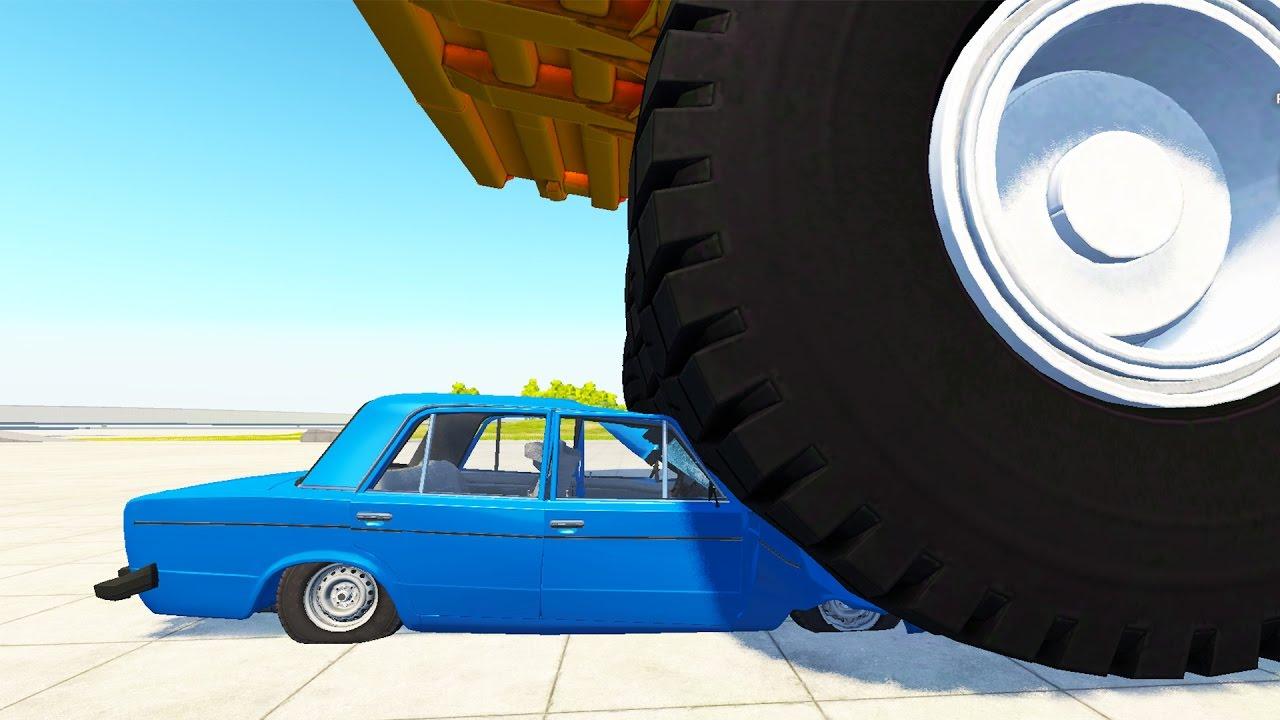 БЕЛАЗ ПРОТИВ ВАЗ 2106 - BEAMNG DRIVE
