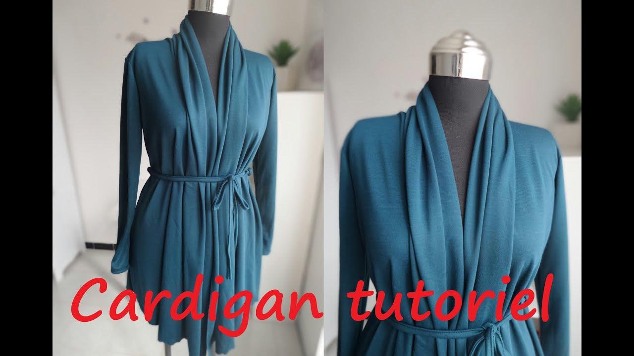 Bevorzugt Tuto couture : Cardigan avec col châle drapé (Patron PDF gratuit  CB99