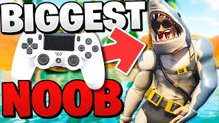 PC PRO is the *BIGGEST NOOB* on Console in Fortnite: Battle Royale!!